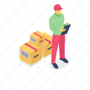 courier service, delivery boy, delivery man, parcel delivery, service provider icon