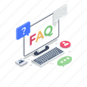 comments, communication, faq, frequently ask questions, inquiry, questions and answers icon