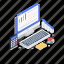 data analytics, online analytics, online graph, performance analytics, web marketing icon