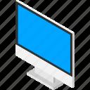 computer, desktop, isometric, isometry, monitor, pc icon