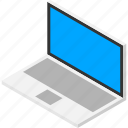 computer, isometric, isometry, laptop, notebook, pc icon