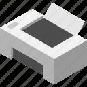 isometry, office, print, printer icon