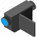 camcorder, camera, digital, isometry, record, videocamera icon