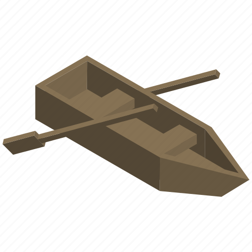 boat, manual, paddle, transport, vehicle, wooden icon