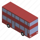 british, bus, decker, double, english, uk, vehicle icon
