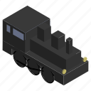 engine, locomotive, steam, train, vehicle icon