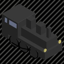 engine, locomotive, steam, train, vehicle icon