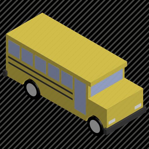 american, bus, kids, school, vehicle, yellow icon