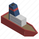 cruise, sea, ship, titanic, transport, vehicle, water icon