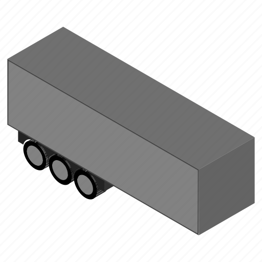 cargo, lorry, trailer, transportation, truck, vehicle icon