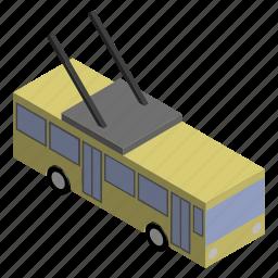 bus, public, transport, transportation, trolley, trolleybus, vehicle icon