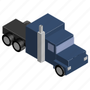 american, distance, long, lorry, truck, vehicle icon