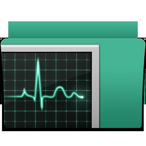 activity, folder, monitor icon