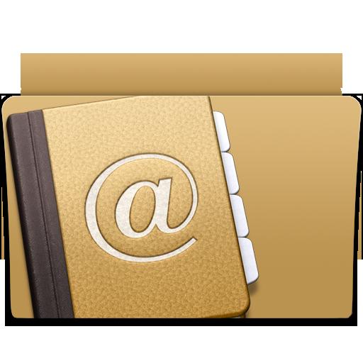 address, contacts, folder icon