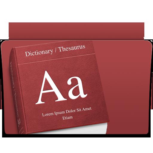 dictionary, folder icon