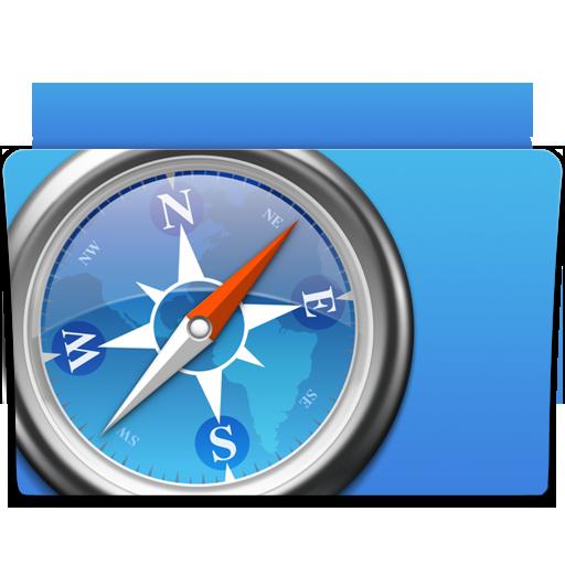 apple, folder, safari icon