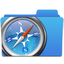 apple, folder, safari icon