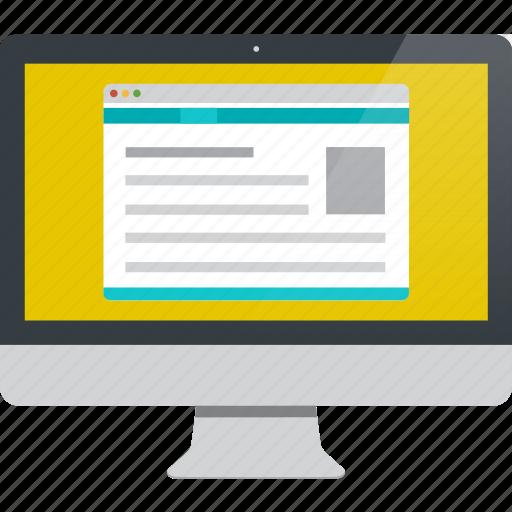 computer, display, imac, monitor icon