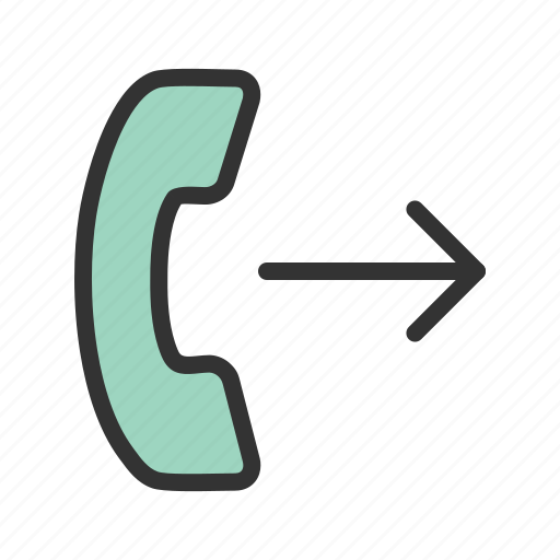 Call, communication, internet, message, outgoing, phone icon - Download on Iconfinder