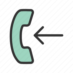 call, cell, display, incoming, interface, phone, screen icon