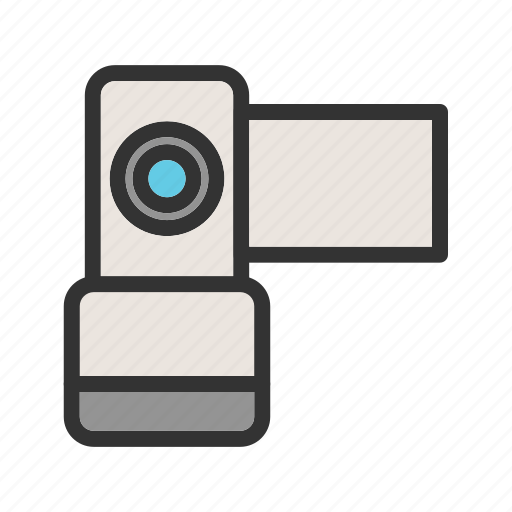 Camcorder, camera, digital, lens, production, technology, video icon - Download on Iconfinder
