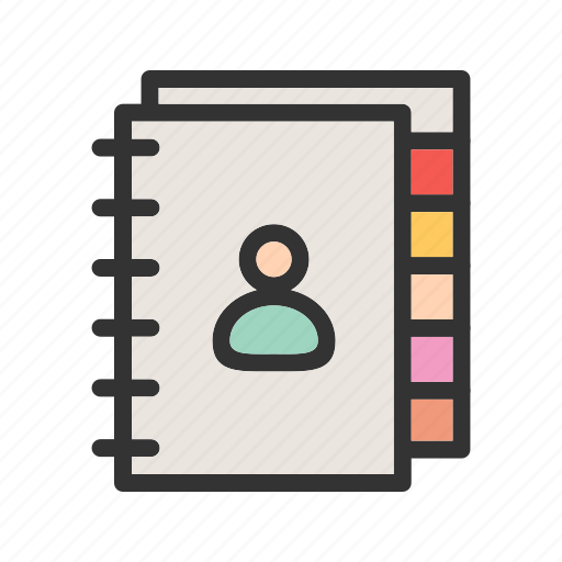 Address, book, business, contact, diary, organizer, schedule icon - Download on Iconfinder