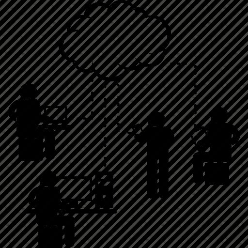 center, cloud, computing, data, engineer, network, server icon