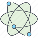 atomic, chemical, element, molecular, radiation, science, structure icon