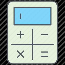 accounting, calculation, calculator, equation, formula, mathematics, science icon