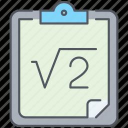 equation, formula, knowledge, mathematics, physics, school, science icon
