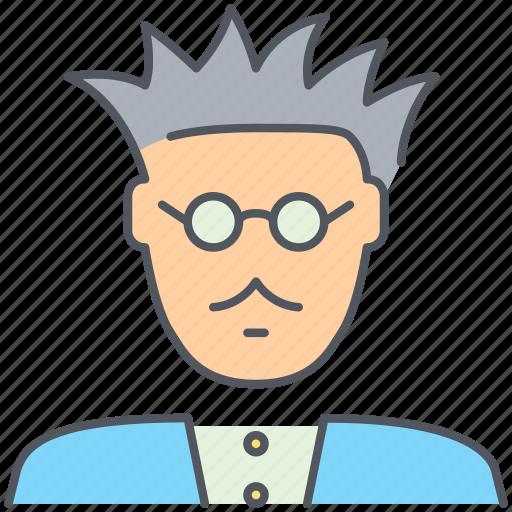 einstein, genious, professor, researcher, science, scientist, teacher icon