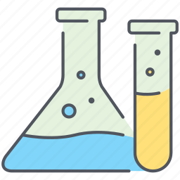 chemistry, compound, experiment, flask, laboratory, science, tubes icon