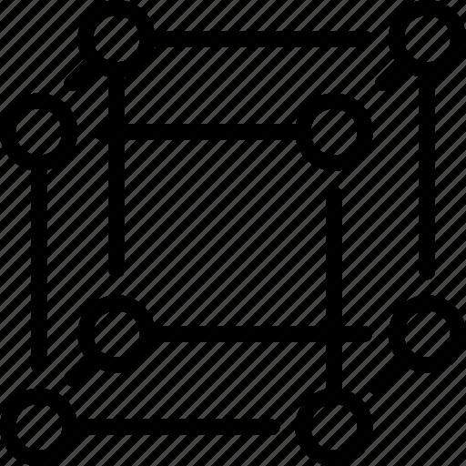 cube, dimensions, science, square, trigonometry icon