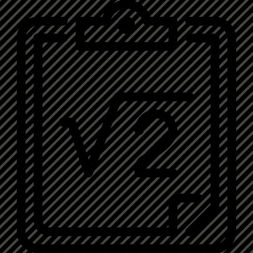 calculation, equation, formula, math, science icon