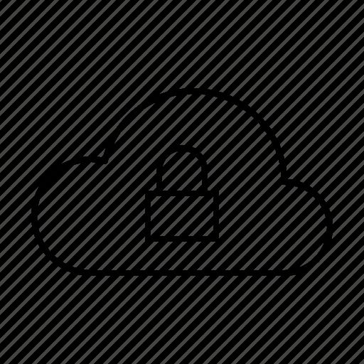 cloud, computer, hardware, it, lock, programming, service icon