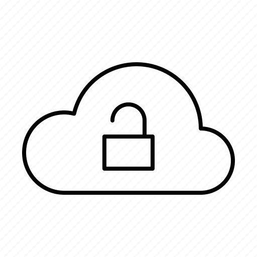 Cloud, computer, hardware, it, programming, service, unlock icon - Download on Iconfinder
