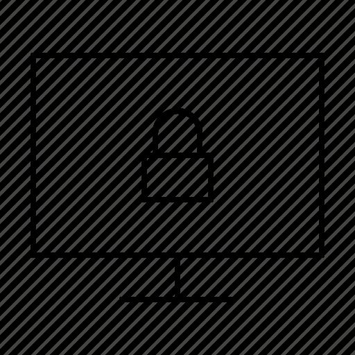 computer, display, hardware, it, lock, programming, service icon