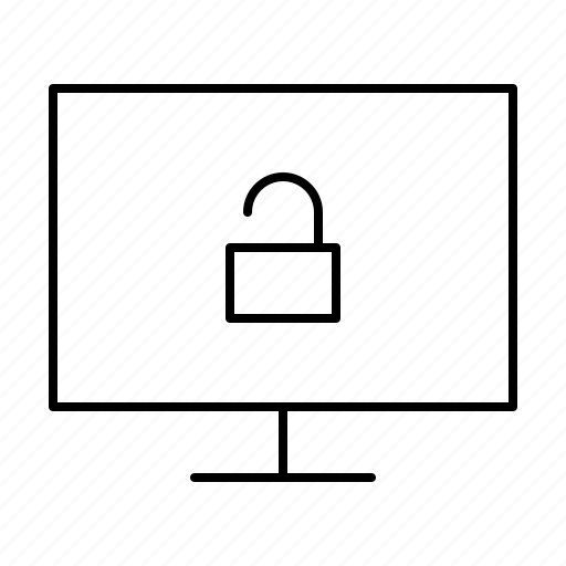 computer, display, hardware, it, programming, service, unlock icon