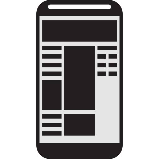 cell phone, mobile page, mobile phone, mobile website, page, phone, website icon