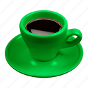 cafe, caffè, coffee, espresso, green icon
