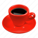 caffè italiano, coffee, espresso, italian espresso, red icon