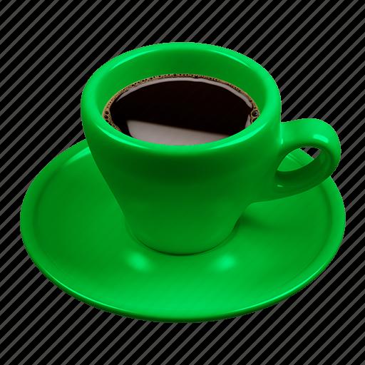 cafe, caffè, coffee, espresso, green icon