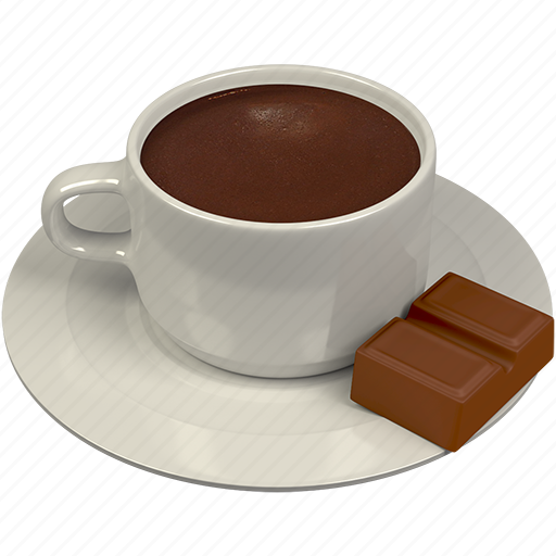 beverage, chocolate, cup, hot icon