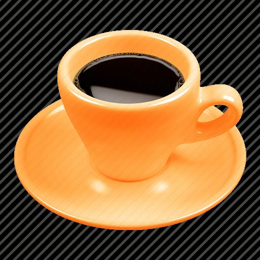 caffè, caffè italiano, coffee, espresso, italian coffee, orange icon