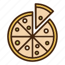 cheese, italian, meat, pepperoni, pizza, slice icon