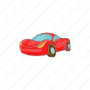 car, cartoon, italian, red, small, transport, vehicle icon