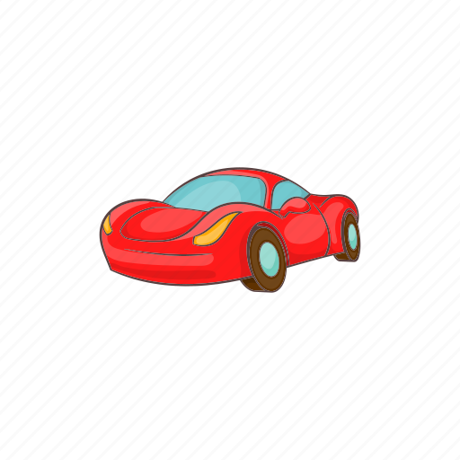 Car, cartoon, italian, red, small, transport, vehicle icon - Download on Iconfinder