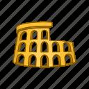 amphitheater, coliseum, colosseum, italy, roman, rome, tourism icon
