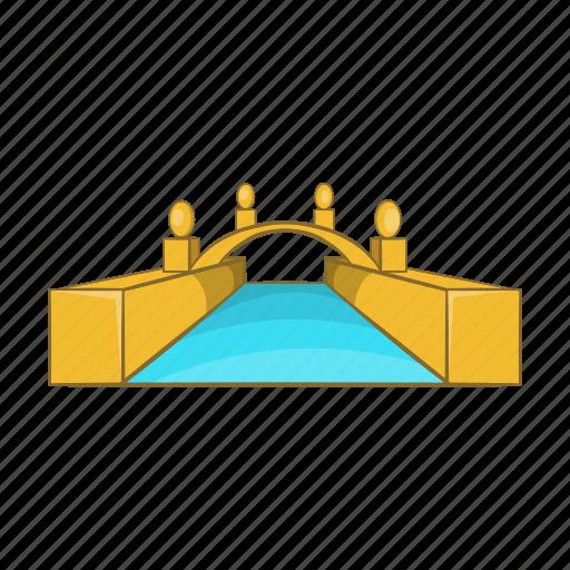 Bridge, canal, cartoon, gondola, historic, travel, venice icon - Download on Iconfinder