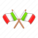 banner, cartoon, country, europe, flag, italian, italy icon
